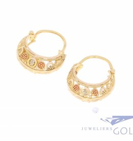 Vintage 20 carat gold decorated creoles