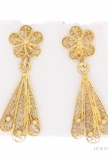 Vintage 20k gouden filigrain oorhangers