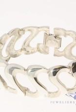 Large vintage silver bracelet