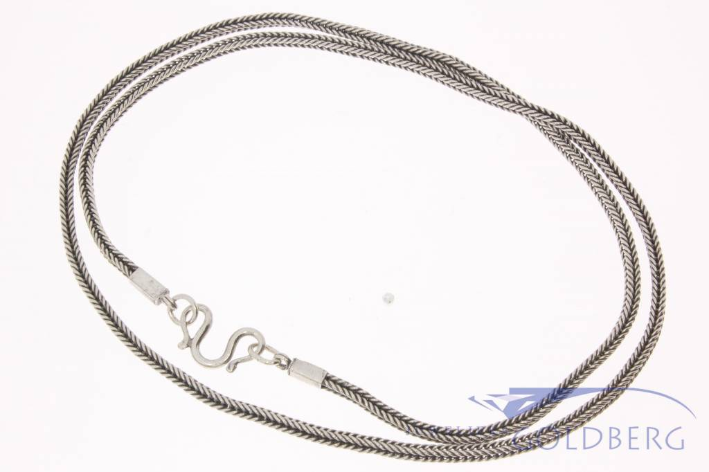 Vintage asian silver necklace