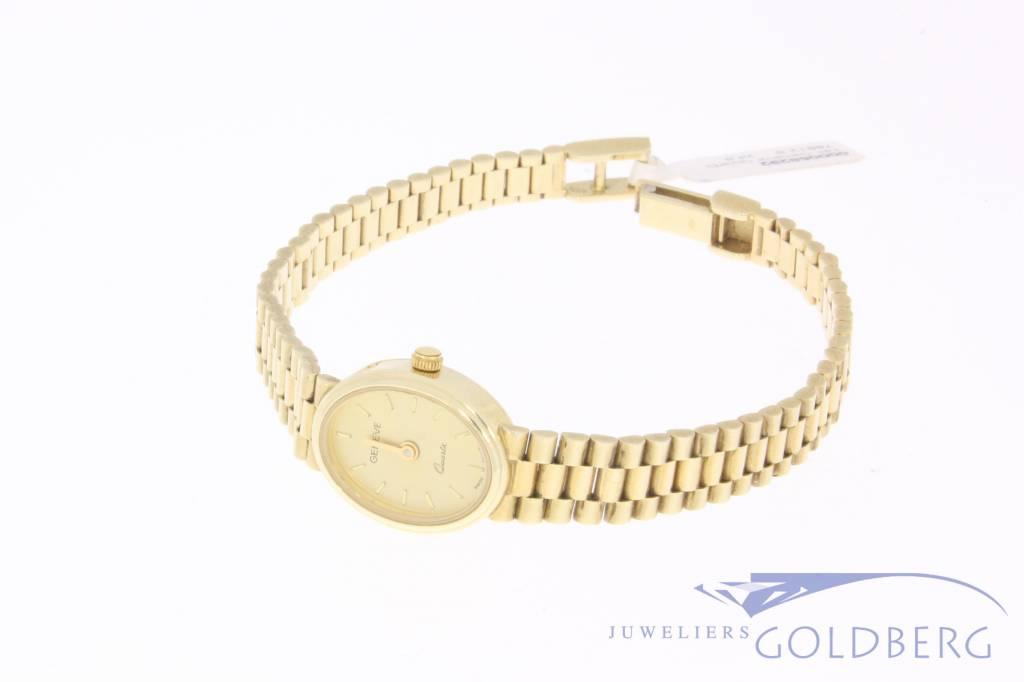 Vintage 14k gouden Geneve horloge