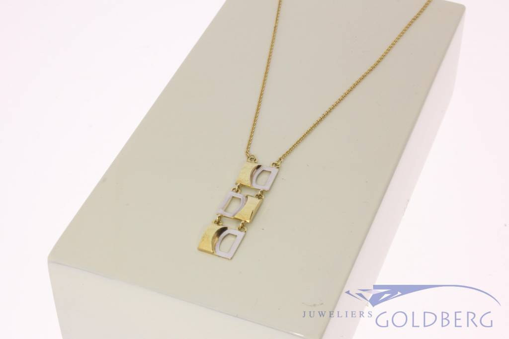 Vintage 14k gold necklace with fantasy pendant
