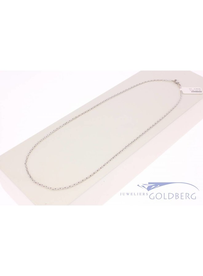 Thin 14k white gold necklace 39cm