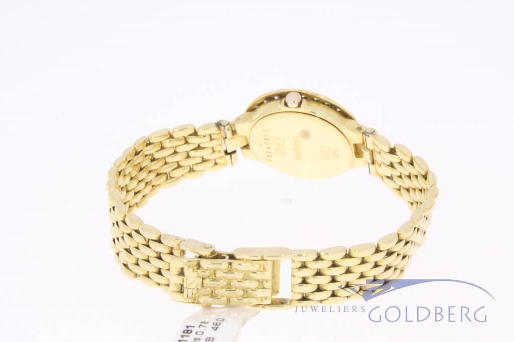 Longines Conquest lady 18k gold with diamonds