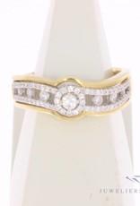 Vintage 18 carat gold ring with ca. 0.45ct brilliant cut diamond