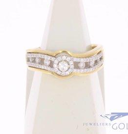 Vintage 18k gouden ring met ca. 0.45ct briljant