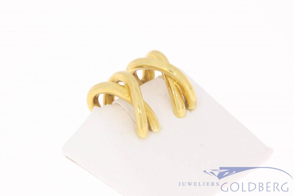 Vintage 18 carat gold Paloma Picasso earclips Tiffany & Co.