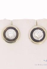 Vintage 14k witgouden oorstekers 0.43ct briljant