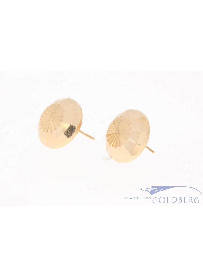 Vintage 18k gouden gefacetteerde oorhangers