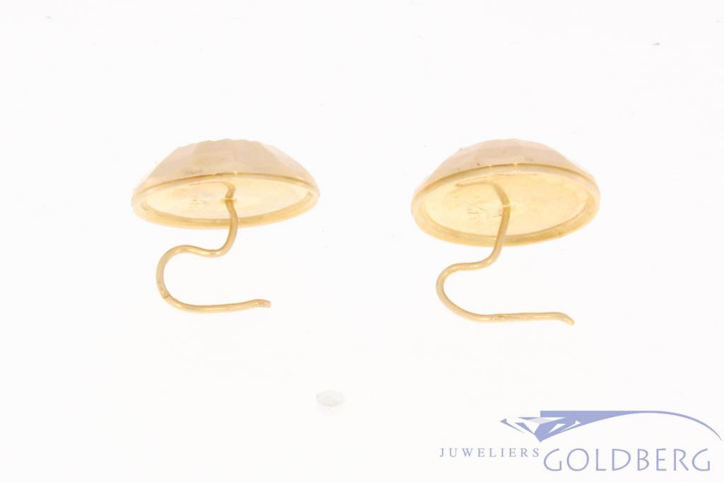 Vintage 18 carat gold facetted earrings