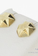 Vintage 14 carat gold facetted earrings