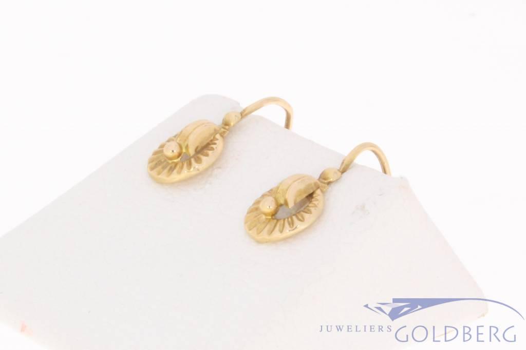 Vintage 18 carat gold earrings France