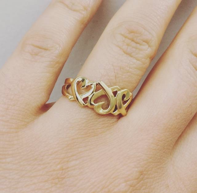 7740e2acb nice vintage Tiffani 18k gold ring - Goldberg