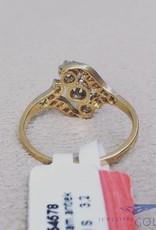 18 carat gold antique ring with diamonds
