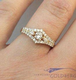 Vintage 18k gouden ring met ca. 0.50ct diamant