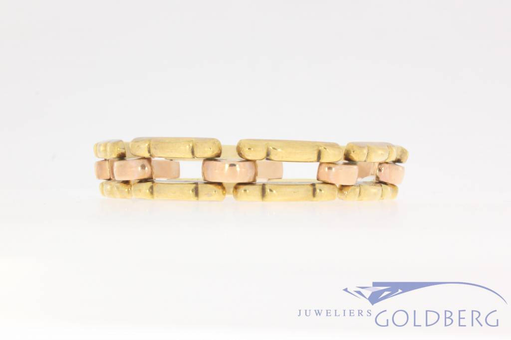 Antique 14 carat bicolor gold bracelet 1906-1953