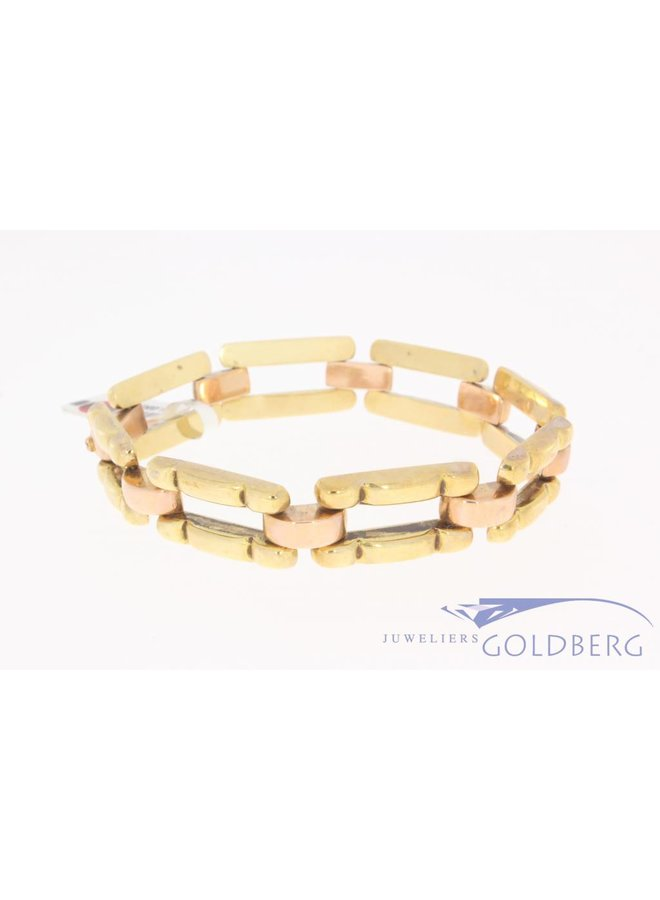 Antique 14 carat bicolor gold bracelet 1906-1953