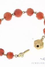 Antique carnelian bracelet with 14 carat gold lock 1925-1963