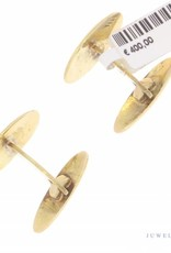 Vintage 14k gouden gestreepte manchetknopen
