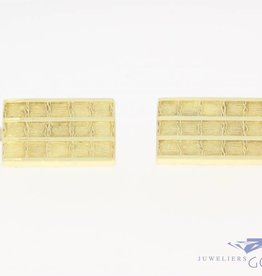 Vintage 14 carat gold edited rectangular cufflinks