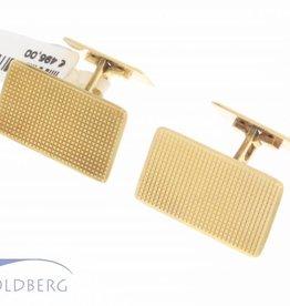 Vintage 14k gouden rechthoekige bewerkte manchetknopen