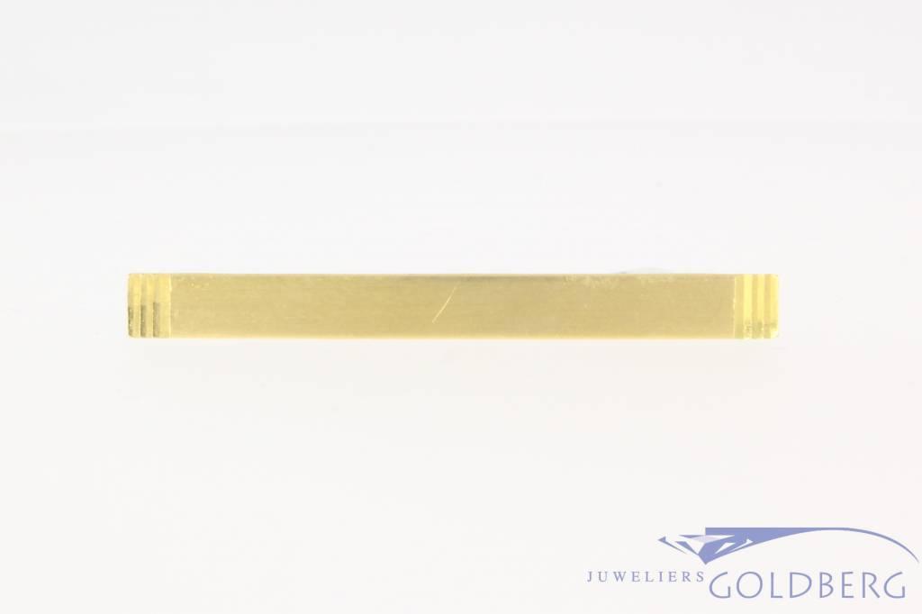 Vintage 14k  gematteerde gouden & metalen dasklem