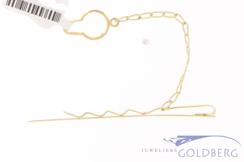 Vintage 14k gouden bewerkte dasklem
