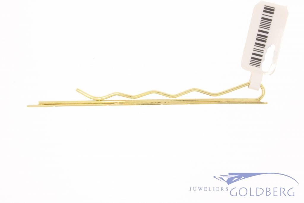 Vintage 14 carat gold & gold-plated metal tie clip