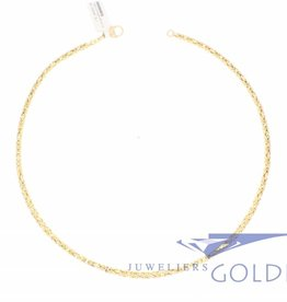 Byzantine necklace 14k gold 3mm wide and 41cm long