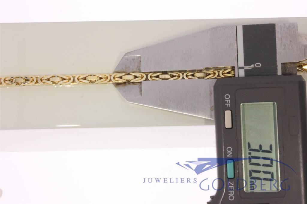 Koningsketting 14k goud 3,0mm 41cm