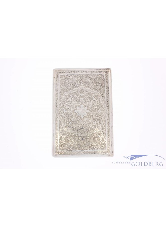 Vintage silver decorated cigarette case