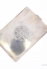 Vintage versierde zilveren sigaretten etui