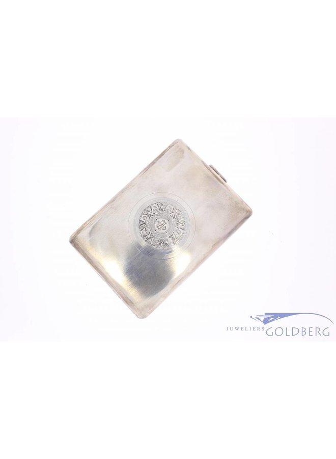 Vintage adorned silver cigarette case