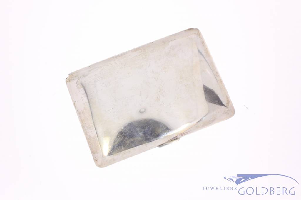 Smooth vintage silver cigarette case 1947