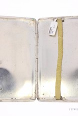 Gladde vintage zilveren sigaretten etui 1947