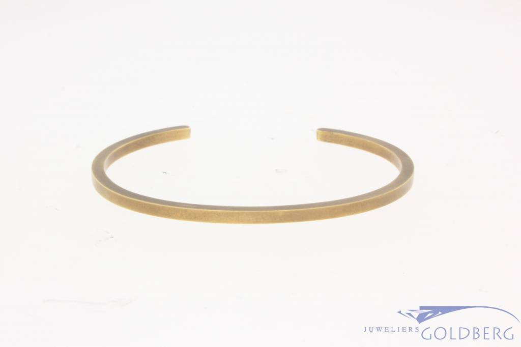 Vintage 14k geelgouden gematteerde design spang armband