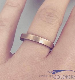 Vintage 14k gouden gematteerde unisex design ring