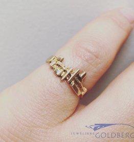 Vintage 14k gouden ring bijzonder ontwerp