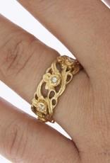 Vintage 18 carat gold ring with ca. 0.14ct brilliant cut diamond