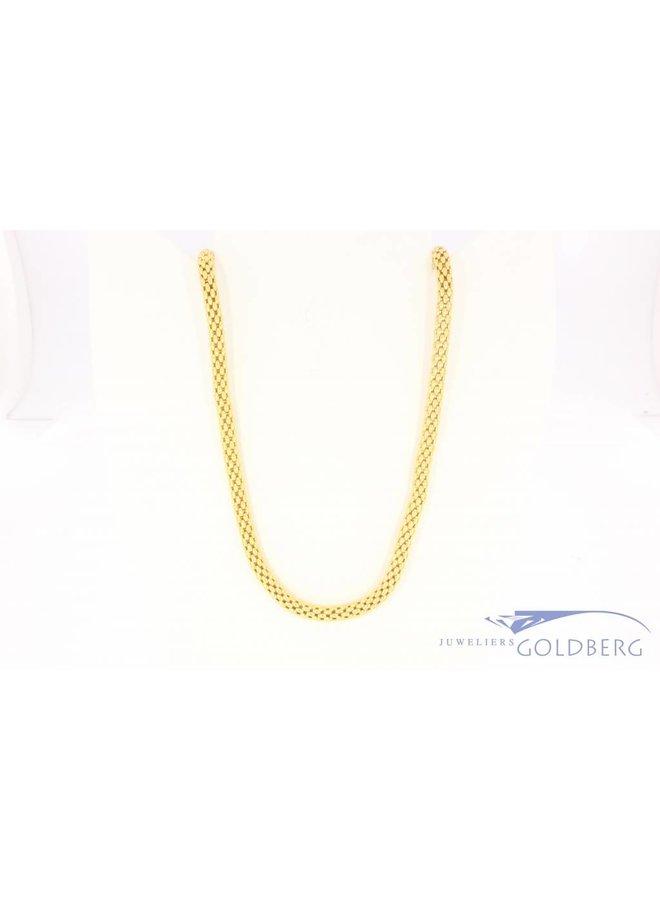 Vintage 18k gouden popcorn collier