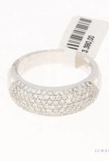 18k witgouden ring met ca. 2.25ct briljant geslepen diamant