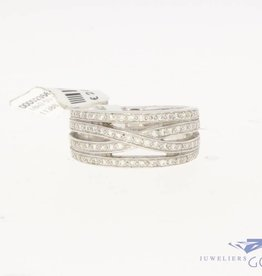 18 carat white gold ring with ca. 0.50ct brilliant cut diamond