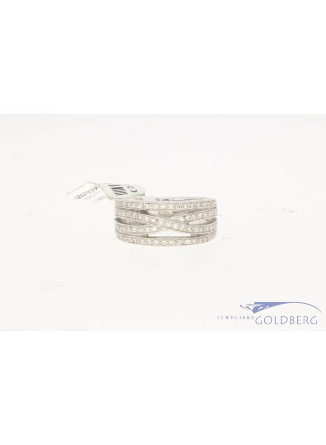 18k witgouden ring met ca. 0.50ct briljant geslepen diamant