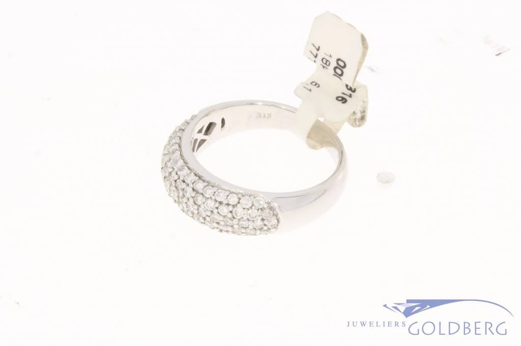 18k witgouden ring met ca. 0.90ct briljant geslepen diamant