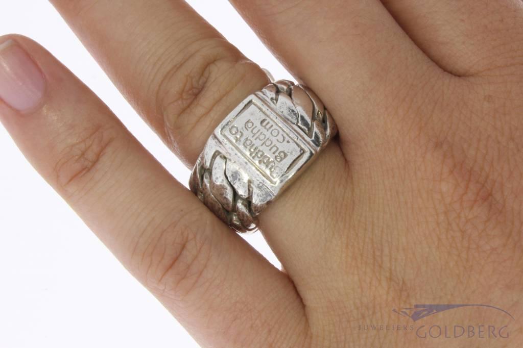 Vintage zilveren Buddha to Buddha ring