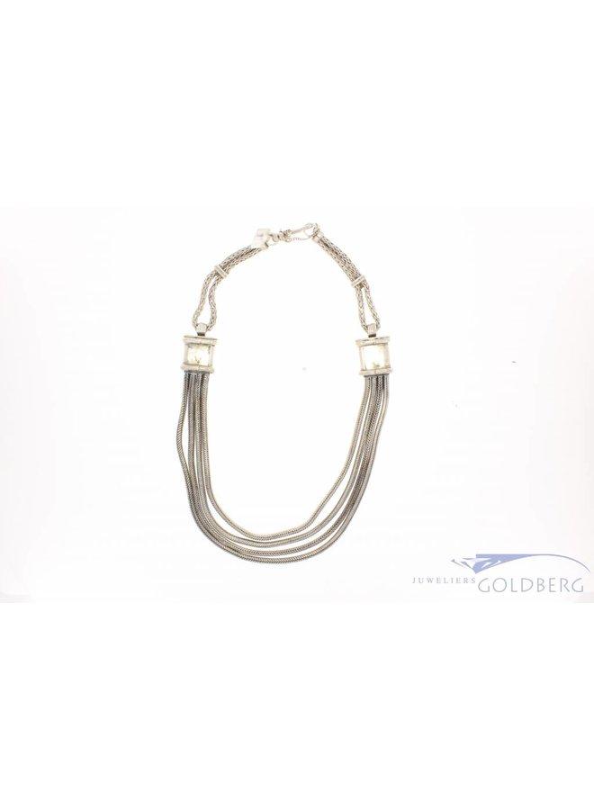 Zwaar en robuust vintage zilveren collier Mexico