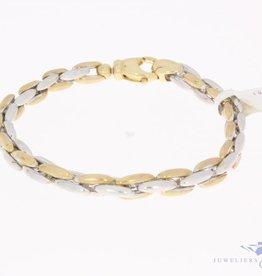 Vintage 14k bicolor gouden armband