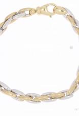 Vintage 14 carat bicolor gold bracelet