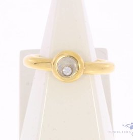 Vintage 18 carat gold Chopard ring with brilliant cut diamond