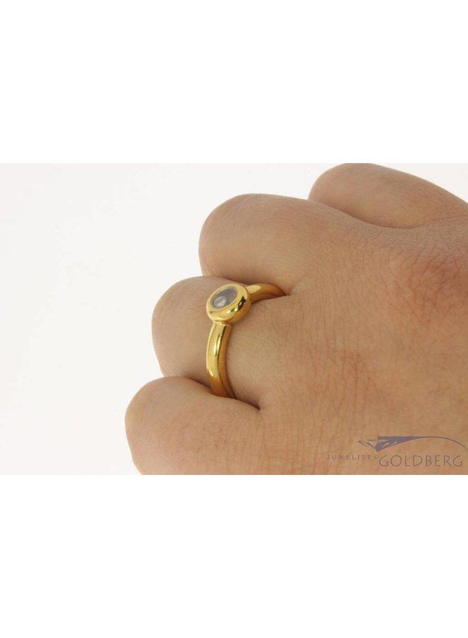 Vintage 18 carat gold Chopard ring with brilliant cut diamond